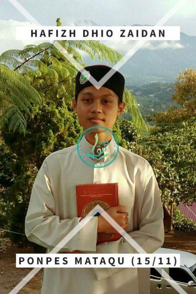 Foto Hafizh Dhio Zaidan, usia 15 tahun, asal Balikpapan, Kalimantan Timur