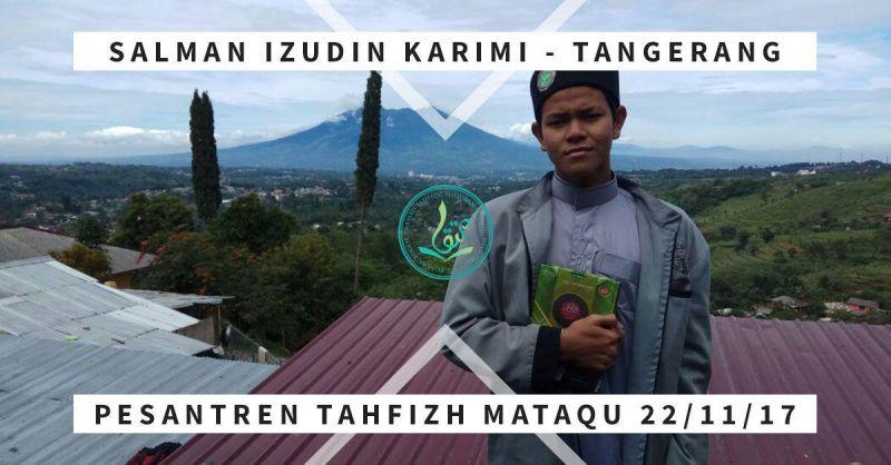 Salman Izudin Karimi, usia 15 tahun, asal Tangerang