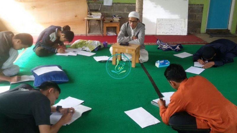 Suasana ujian tulis 5 juz santri Huffazh Ananda: M. Zaidan Aly, M. Arif, Abdusshomad, Affan Alim, dan Akmal Fadlurrohman (20 Maret 2017)