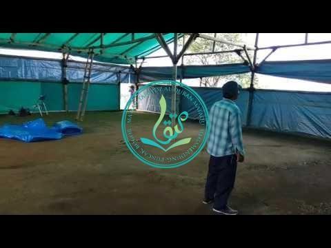 Penampakan Dalam Tenda Sementara Kegiatan Ramadhan MataQu 1438 H