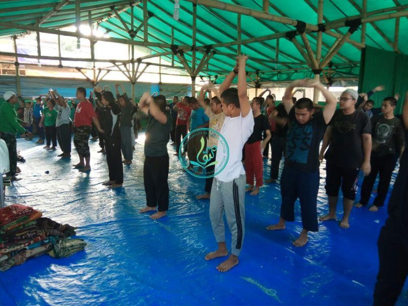 Persiapan Olahraga Panahan Para Santri Putra Ponpes MataQu (23/07/2017)