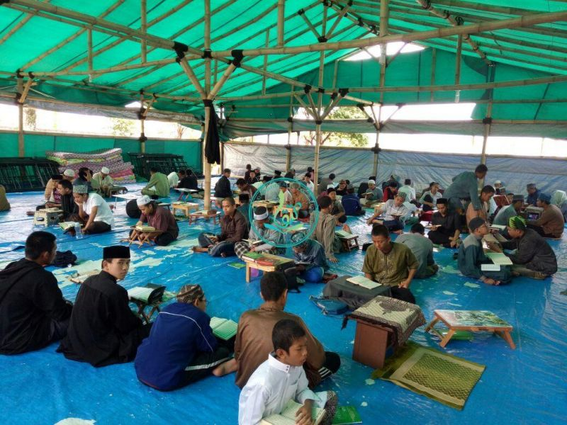 Kegiatan Perhalqohan Santri Putra Ponpes MataQu (10/08/2017)