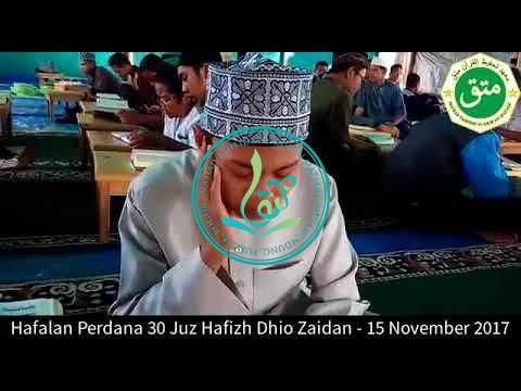 Hafalan Perdana 30 Juz Santri Ponpes MataQu: Hafizh Dhio Zaidan