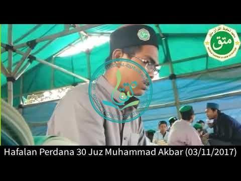 Hafalan Perdana 30 Juz Santri MataQu, Muhammad Akbar
